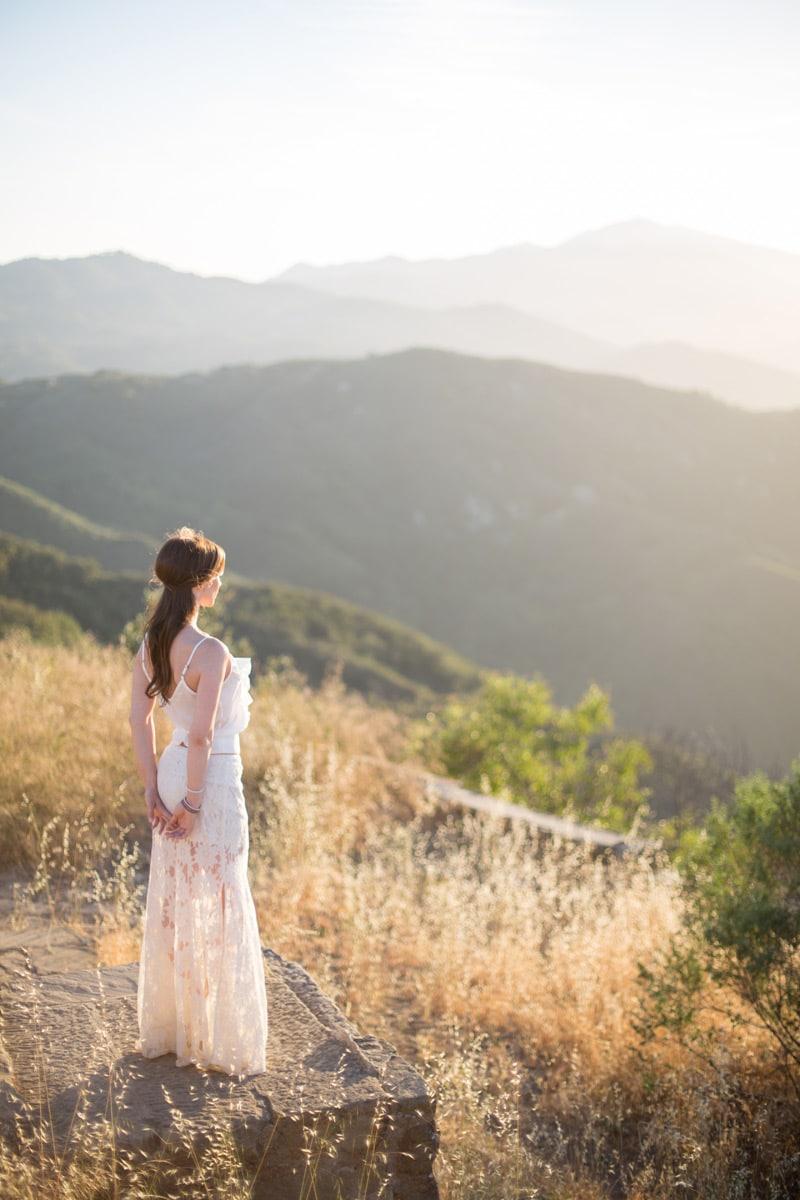 Knapp's Castle Engagement at sunset in Santa Barbara.