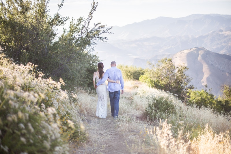 Engagement session in the Santa Barbara mountains