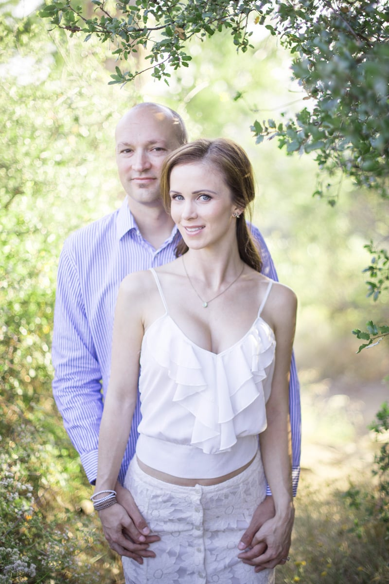Engagement session on east camino cielo in Santa Barbara