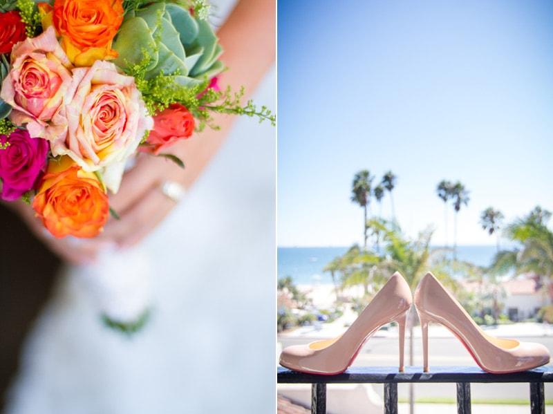 santa barbara beach wedding details