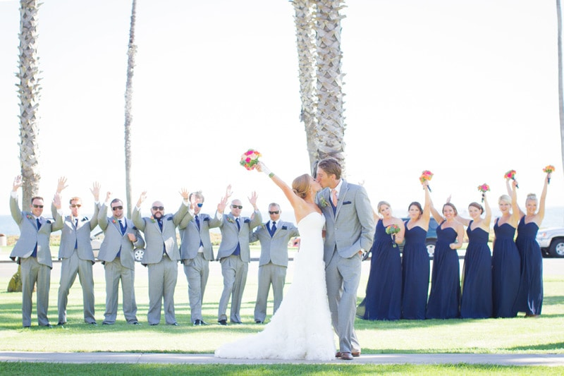 Santa Barbara Beach Wedding Bridal Party
