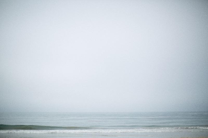 Photo of a calm, Summerland Beach ocean before a wedding.