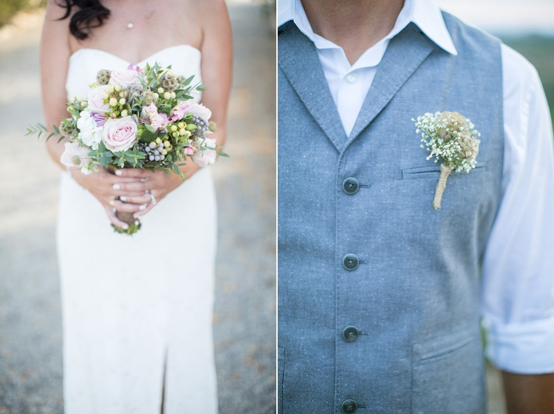 Bouquet and floral details at a private estate wedding in Santa Barbara.