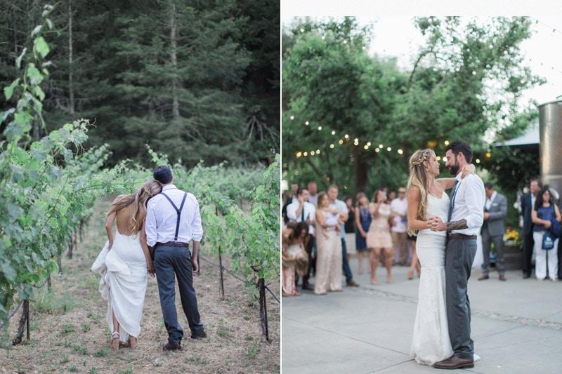 Bride and Groom at Napa Wedding Tres Sabores Winery.