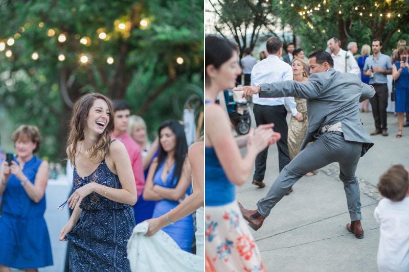 wedding party reception in Napa