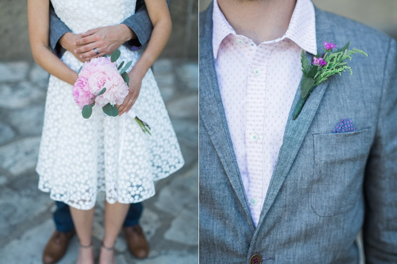 Details at a Summer Courthouse Elopement in Santa Barbara.