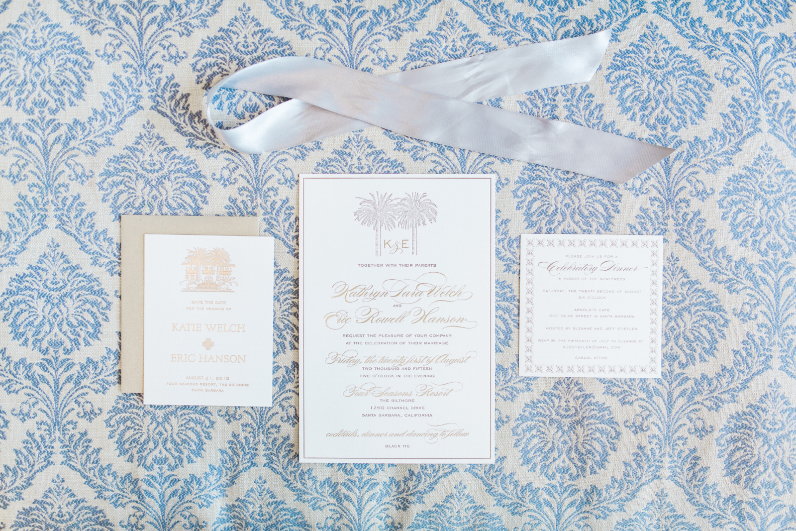 Letter Press wedding invitations and stationery suite for