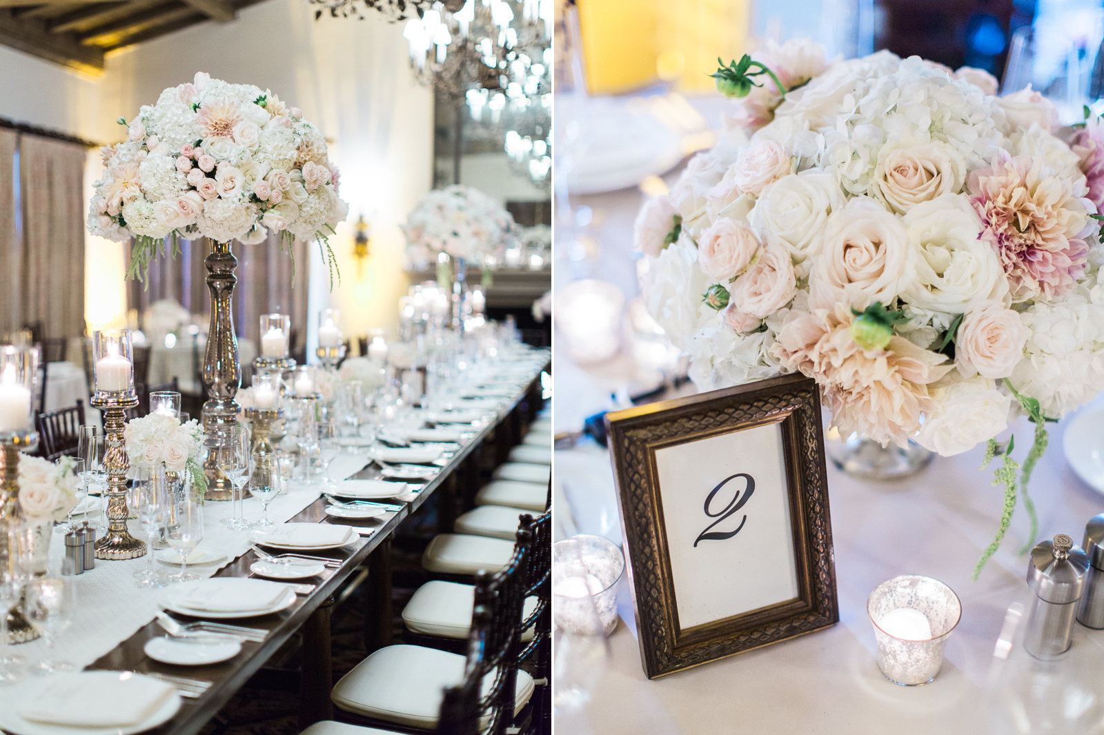 Beautiful floral decor for a Four Seasons Biltmore wedding