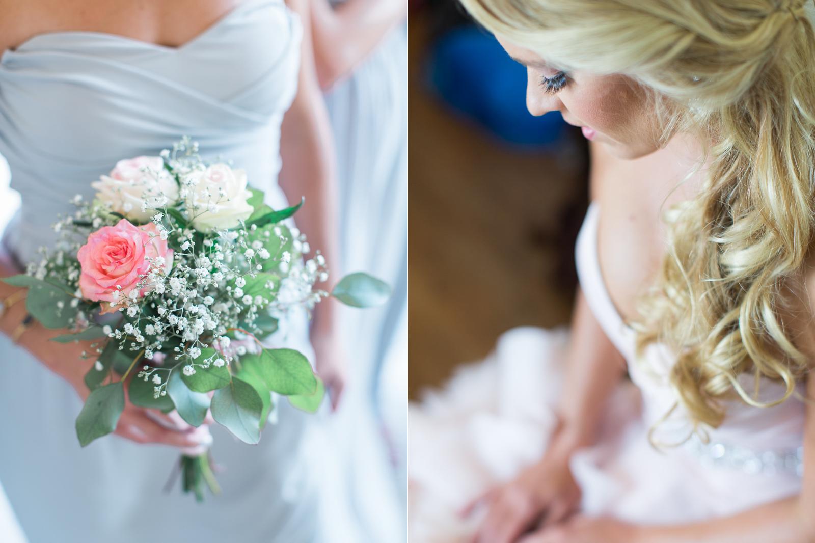 Bride at Hotel Milo before her Alice Keck Park Wedding
