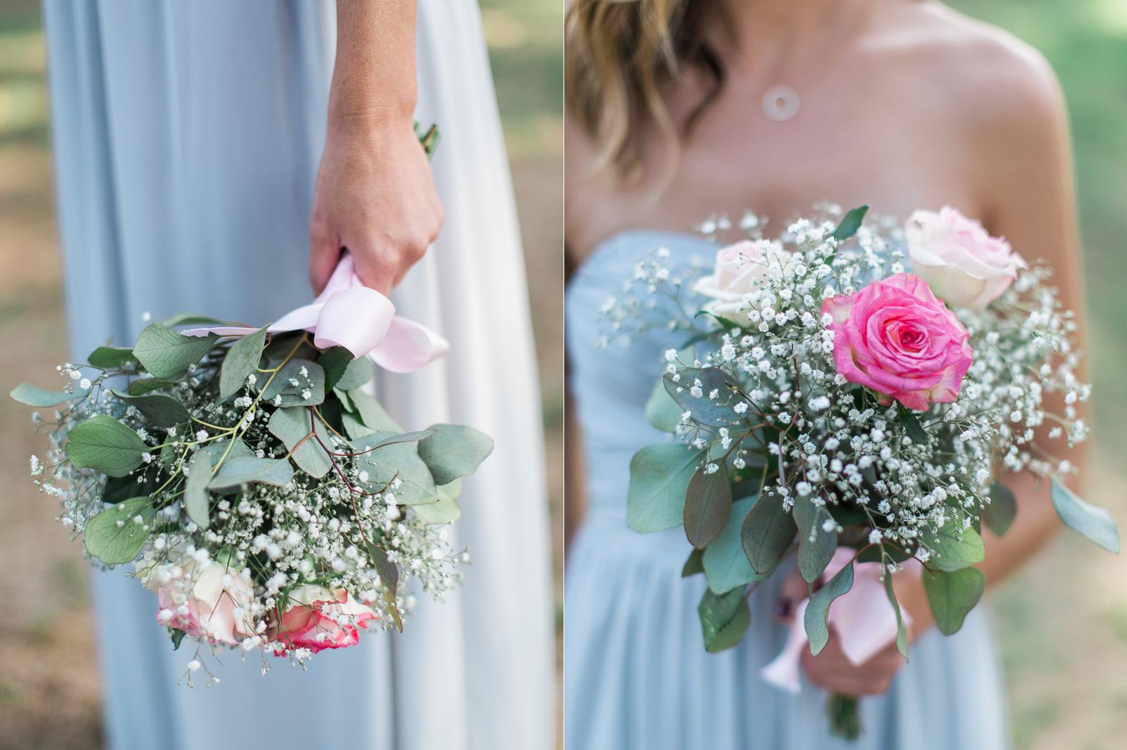 Bridesmaids bouquet at an Alice Keck Park wedding in Santa Barbara