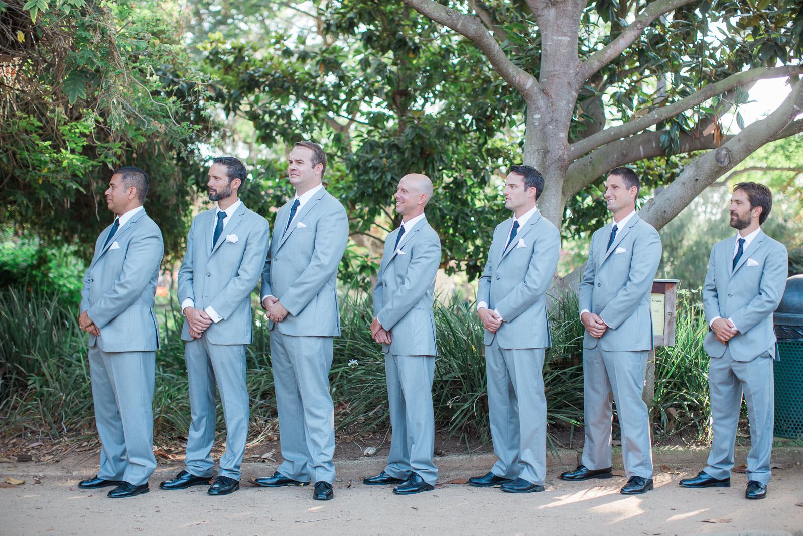 Groomsmen at Alice Keck Park Wedding