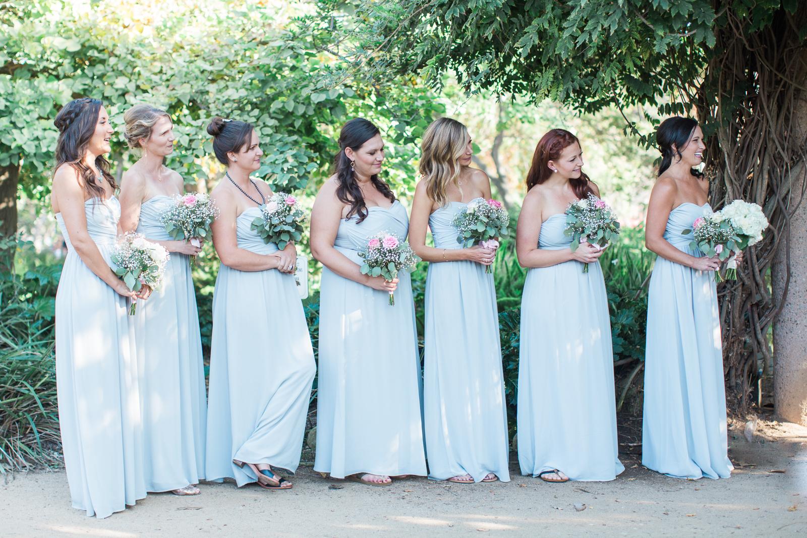 Bridesmaids at Alice Keck Park Wedding