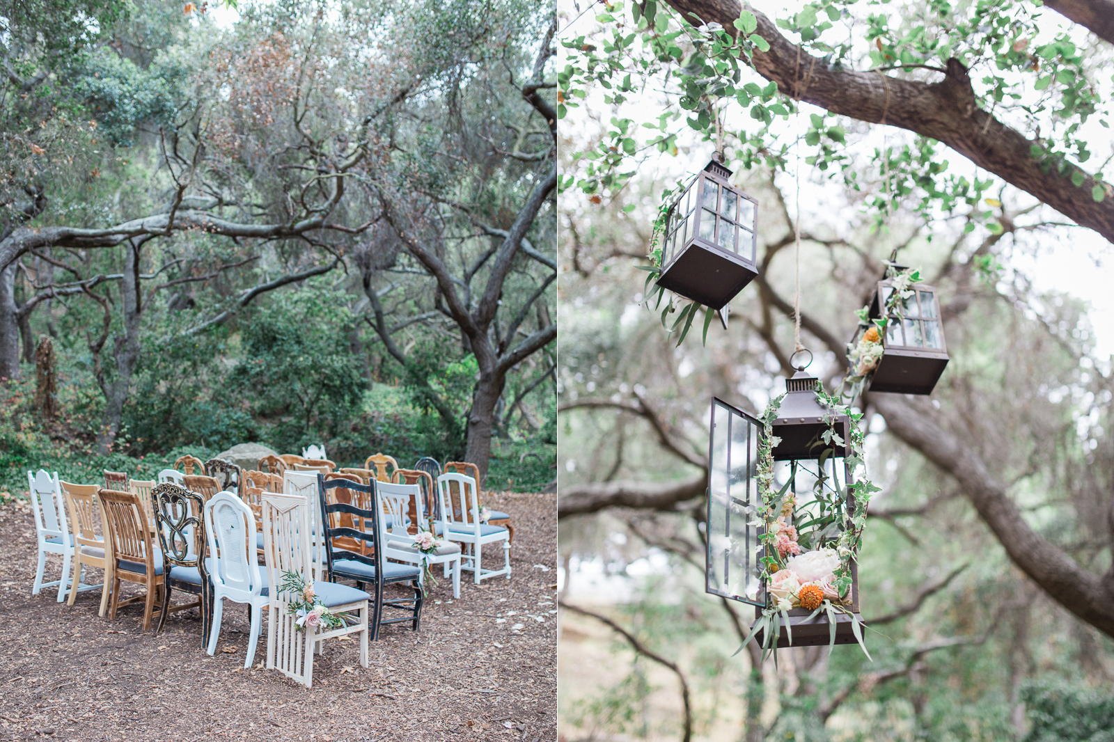 Vintage chair rentals and rustic floral design for this Natural History Museum Wedding in Santa Barbara