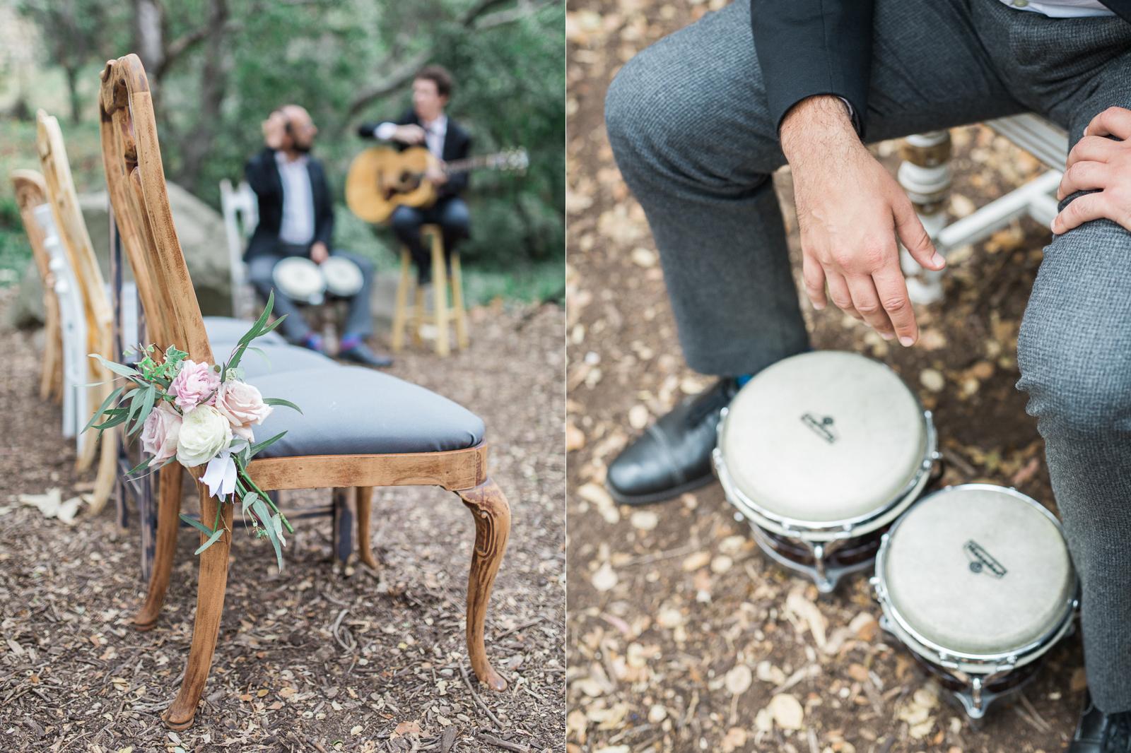 Musicians prep for a gay wedding ceremony in Santa Barbara