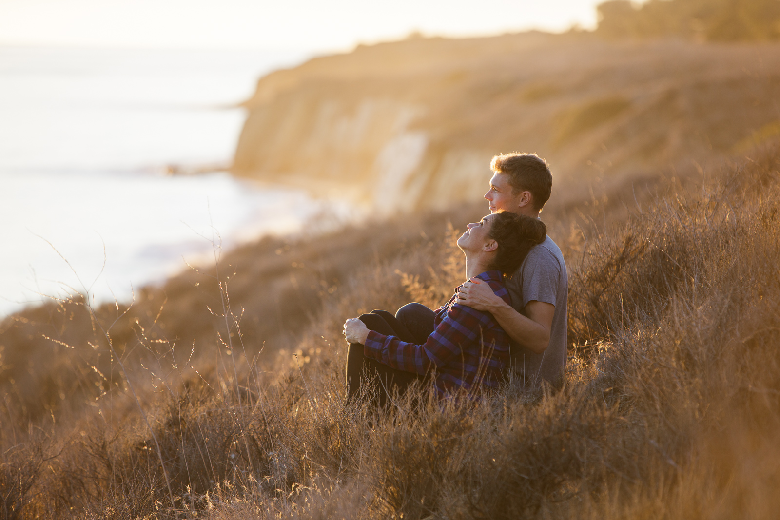 Intimate Gaviota coast engagement on the bluffs