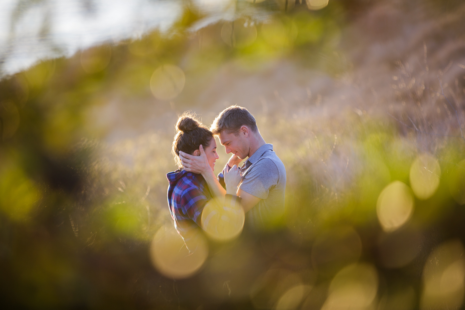 Passionate California couple gets engaged at sunset on the Gaviota Bluffs