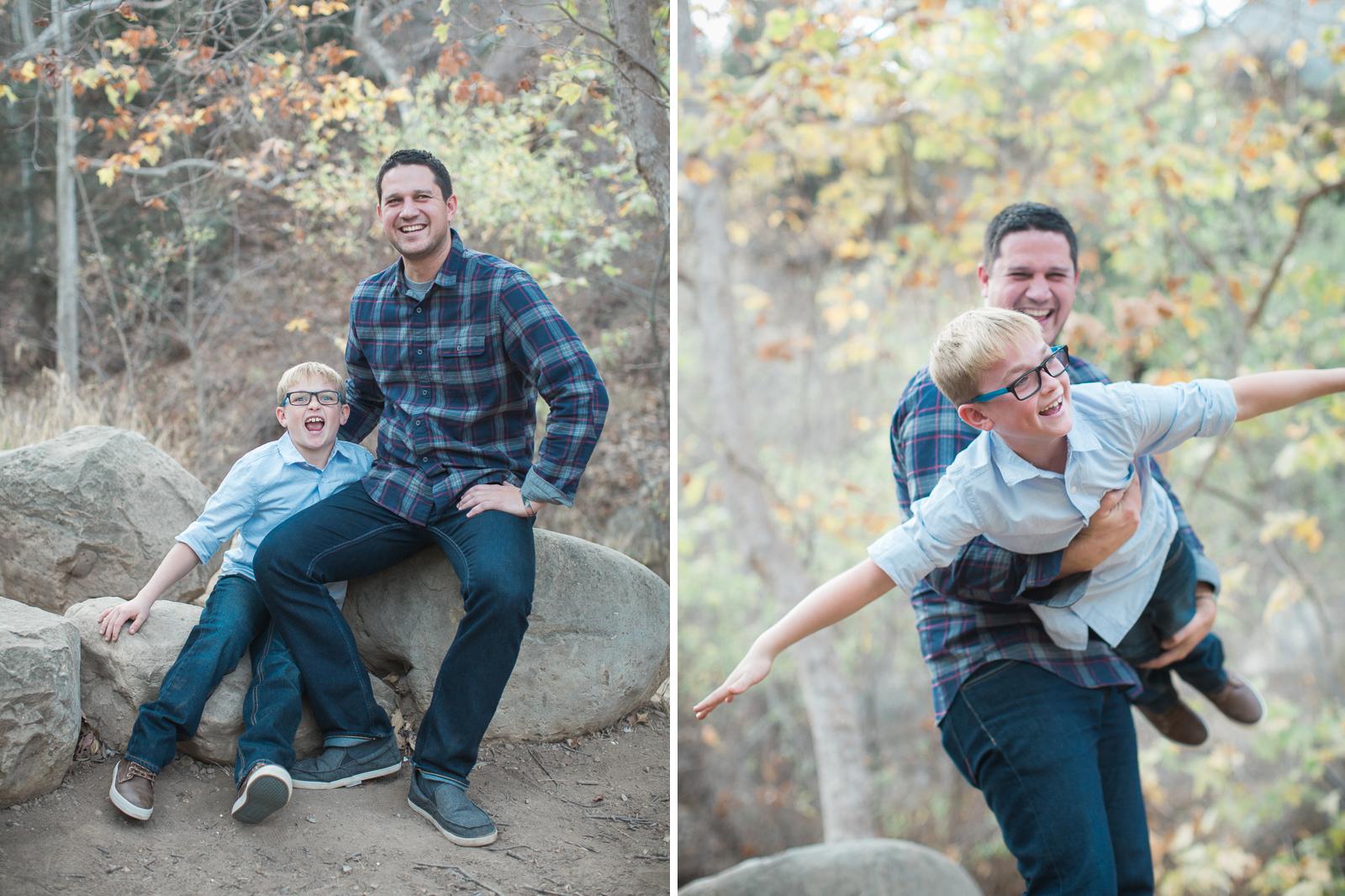 Fall santa barbara family engagement in Steven's Park