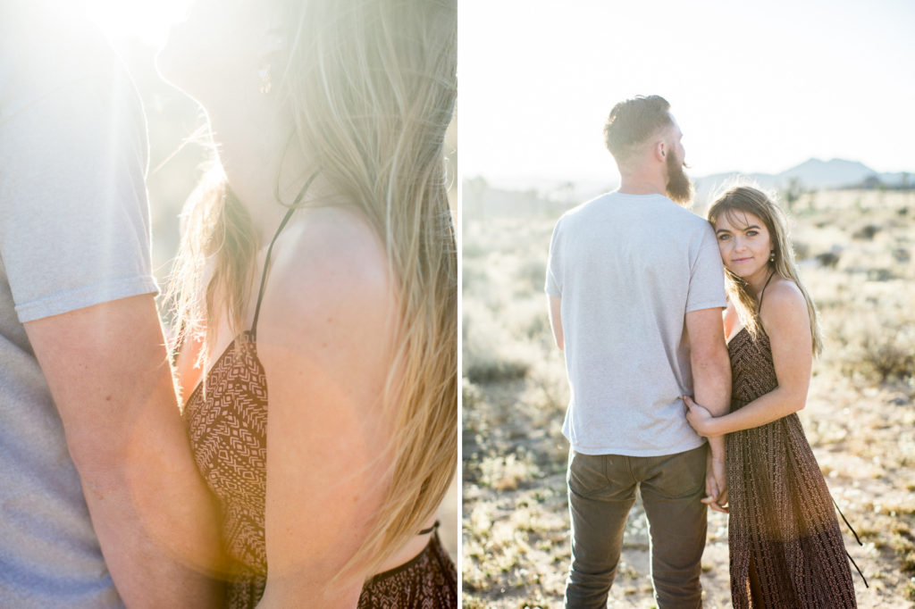 Love and Gold as we approached sunset during the Joshua Tree engagement session