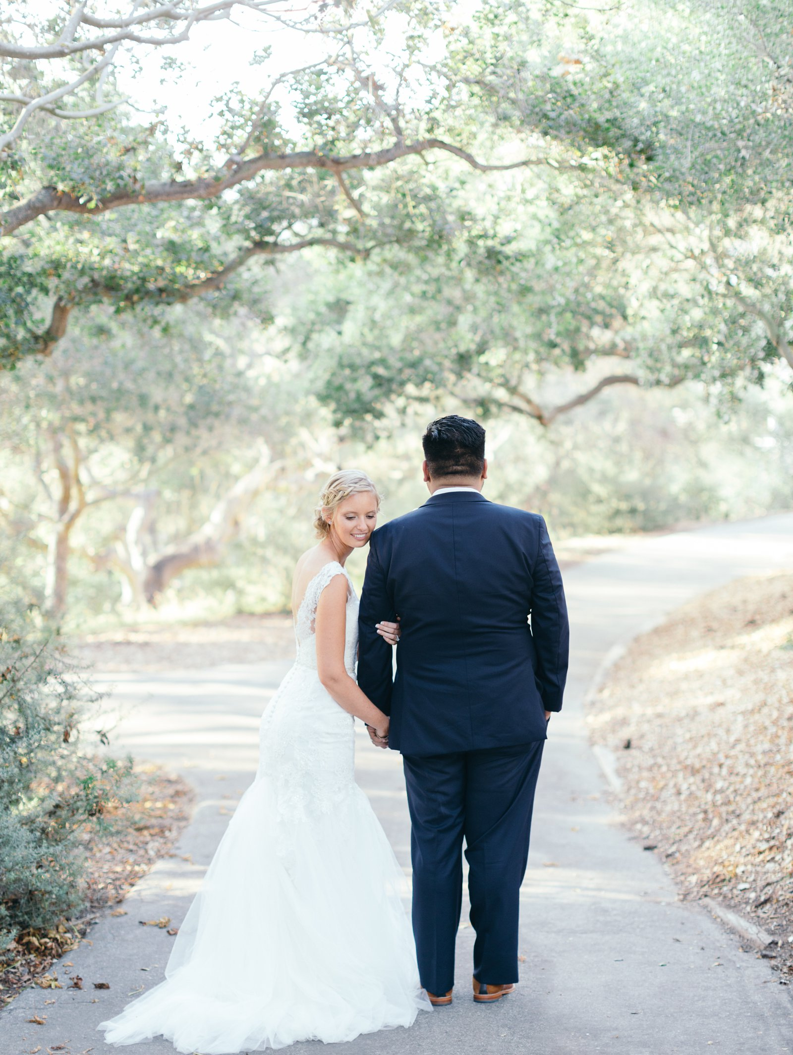 Newlyweds after their Godric Grove wedding in Santa Barbara.