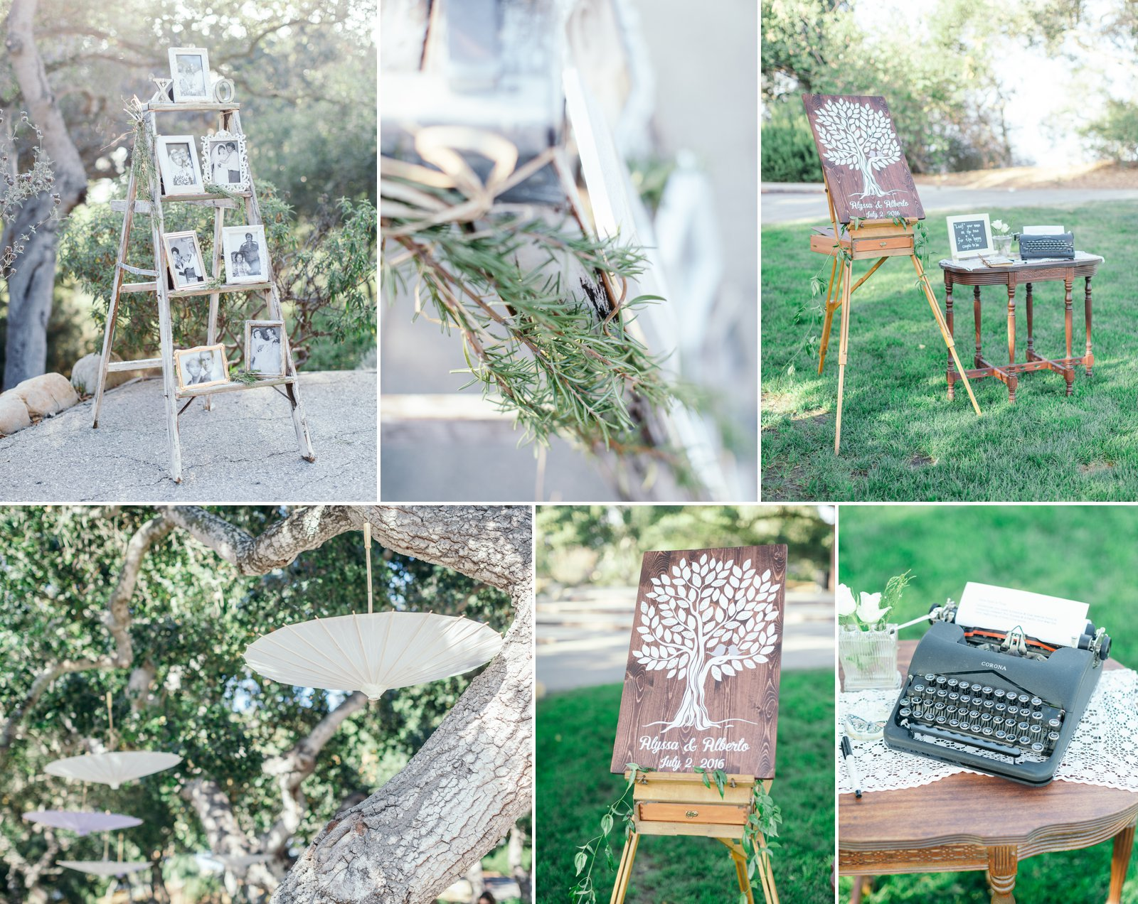 Lavender, sage and vintage rustique elements for this Godric Grove reception.