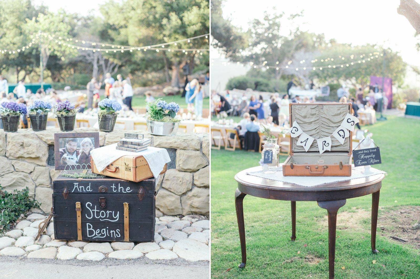 Lavendaer, sage and vintage rustique elements for this Godric Grove reception.