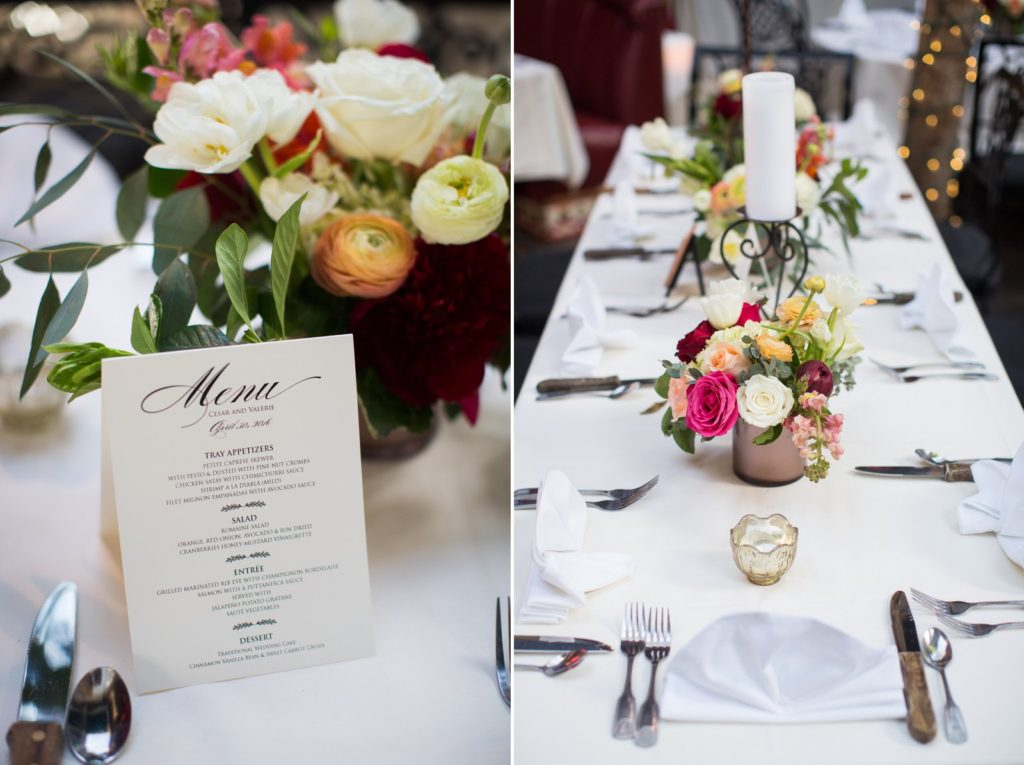 wedding reception inspiration at El Paseo Restaurant