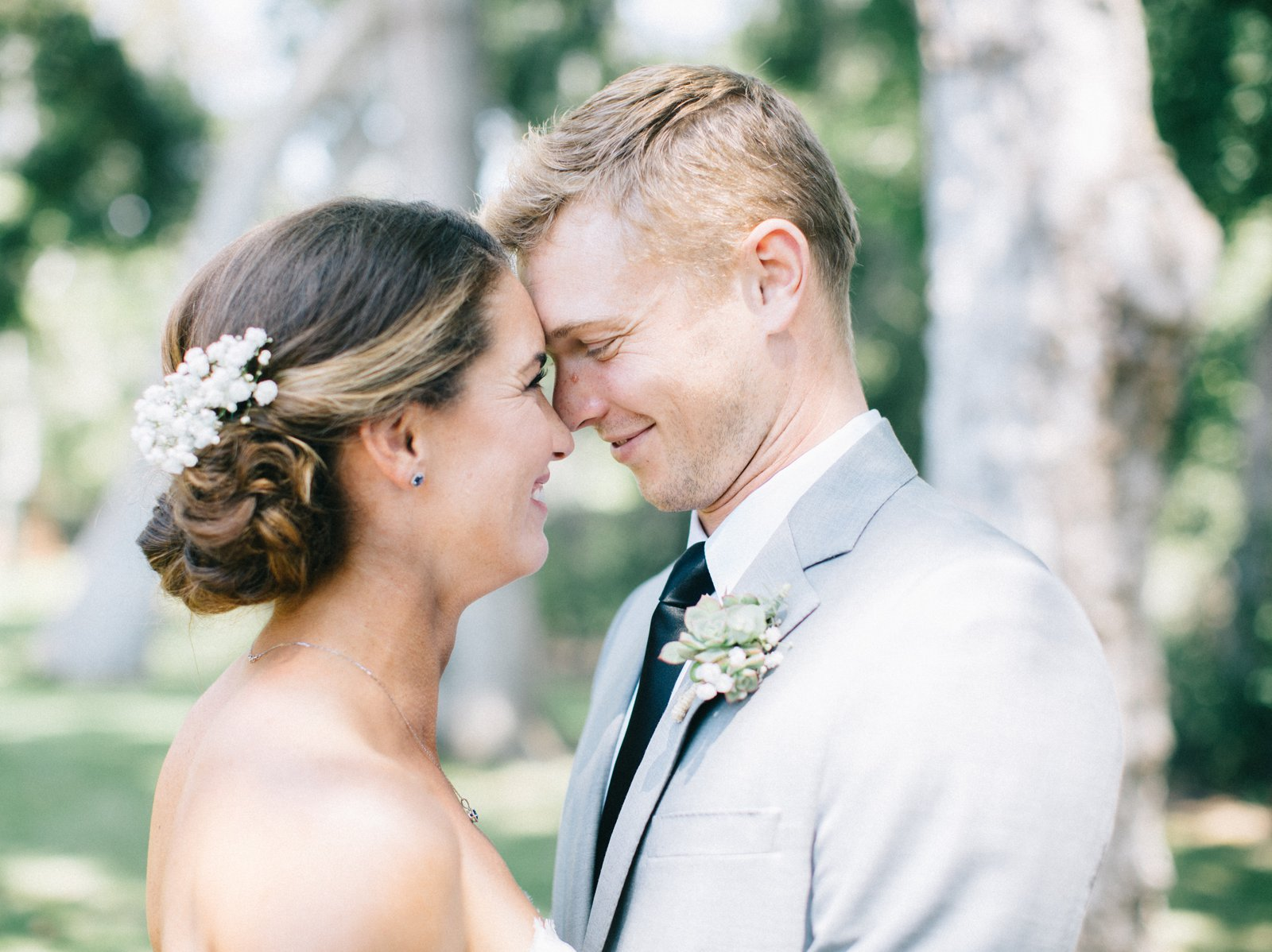 Bride & Groom at their beautiful Outdoor Carpinteria Wedding