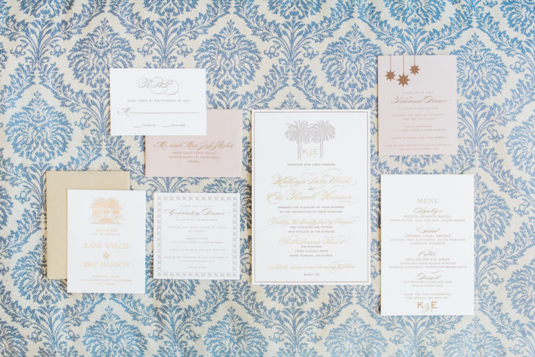Four Seasons Santa Barbara Wedding | Invitations