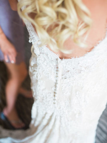 Santa Barbara Historical Museum Wedding | Wedding Gown Back