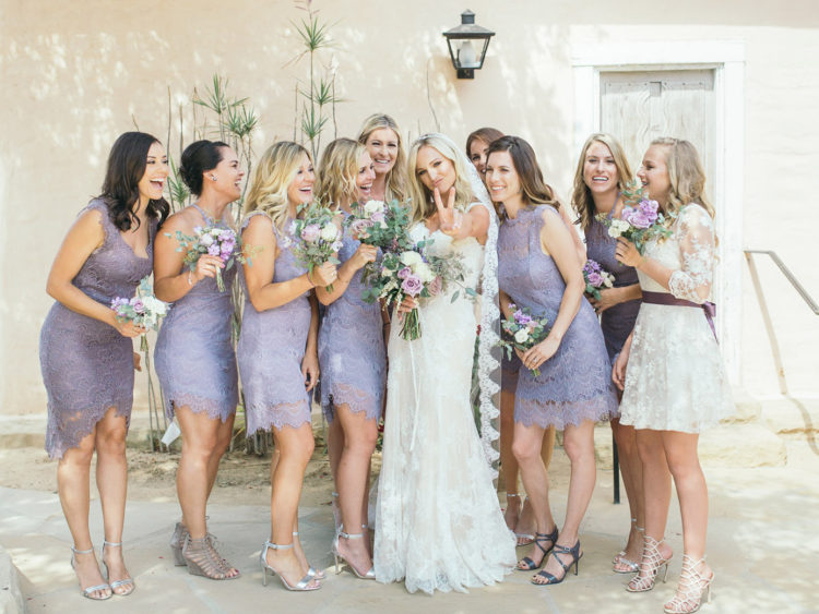 Santa Barbara Historical Museum Wedding | Bride and bridesmaids