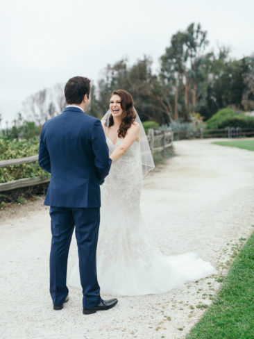 Elegant Bacara Bluffs Elopement | First Look