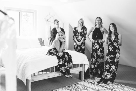 Garden Wedding in Port Townsend | Bridesmaids