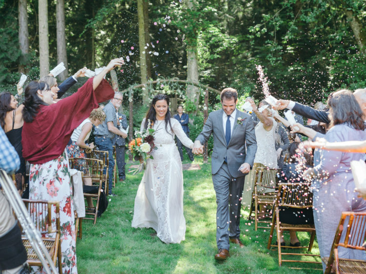 Garden Wedding in Port Townsend | Bride and Groom