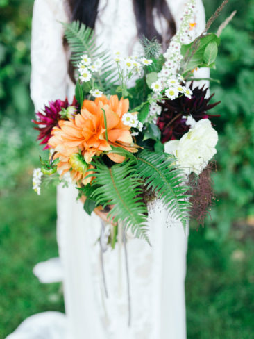 Garden Wedding in Port Townsend | Bridal Bouquet