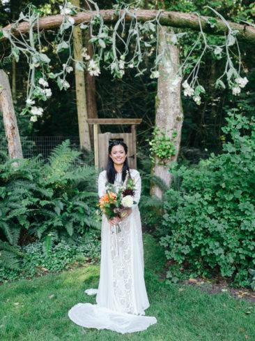 Garden Wedding in Port Townsend | Bride in Rainforests of the Pacific Northwest