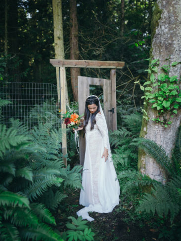 Garden Wedding in Port Townsend | Bride in Rainforests of the Pacific Northwest