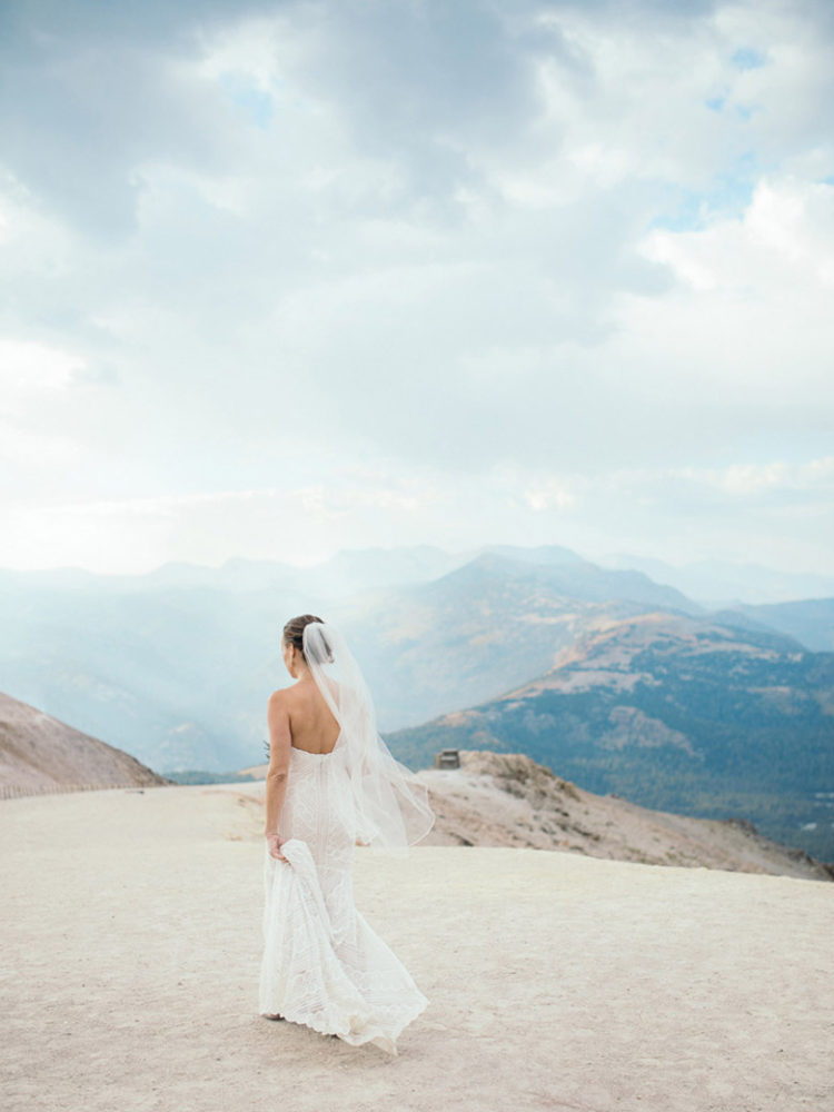 Mammoth Mountain Wedding | Bride on the Summit