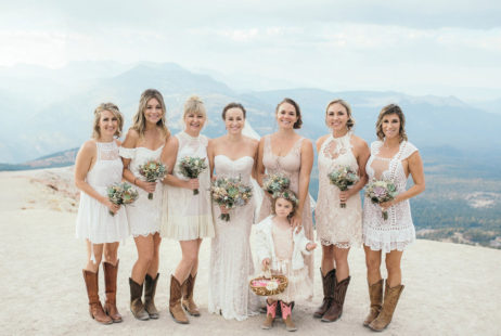 Mammoth Mountain Wedding | Bridesmaids on the Summit