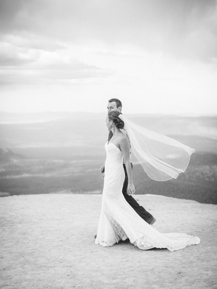 Mammoth Mountain Wedding | Bride and Groom on the Summit