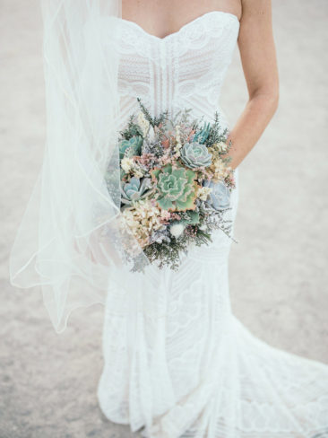 Mammoth Mountain Wedding | Succulent Floral Decor