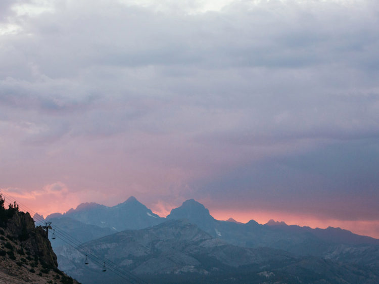 Mammoth Mountain Wedding | High Sierra Thunderstorm Sunset