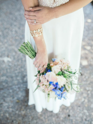 Santa Barbara Zoo Wedding | Bridal bouquet and jewelry