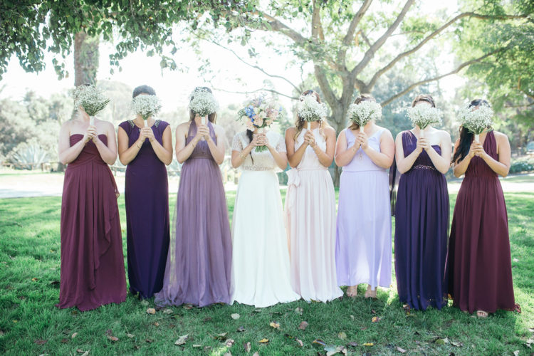 Santa Barbara Zoo Wedding | Bride and Bridesmaids