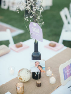 Santa Barbara Zoo Wedding | Travel Themed Table Decor