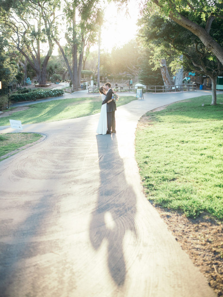Santa Barbara Zoo Wedding | Bride and Groom at Sunset