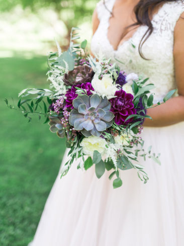 Murphys Ranch Wedding | Bridal bouquet with succulents