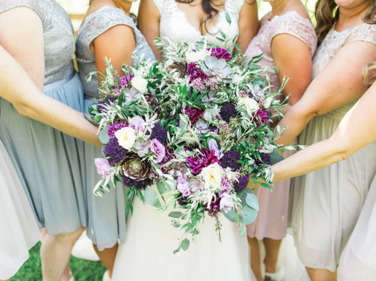 Murphys Ranch Wedding | Summer Bridal Bouquets with Succulents