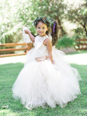Murphys Ranch Wedding | Flower Girls with flower crowns