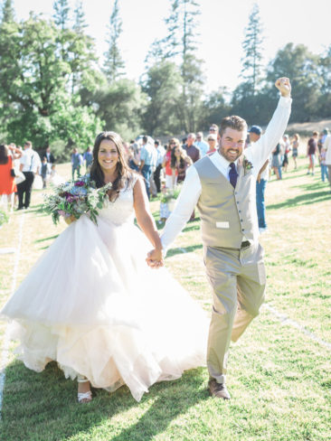 Murphys Ranch Wedding | Bride and Groom just married