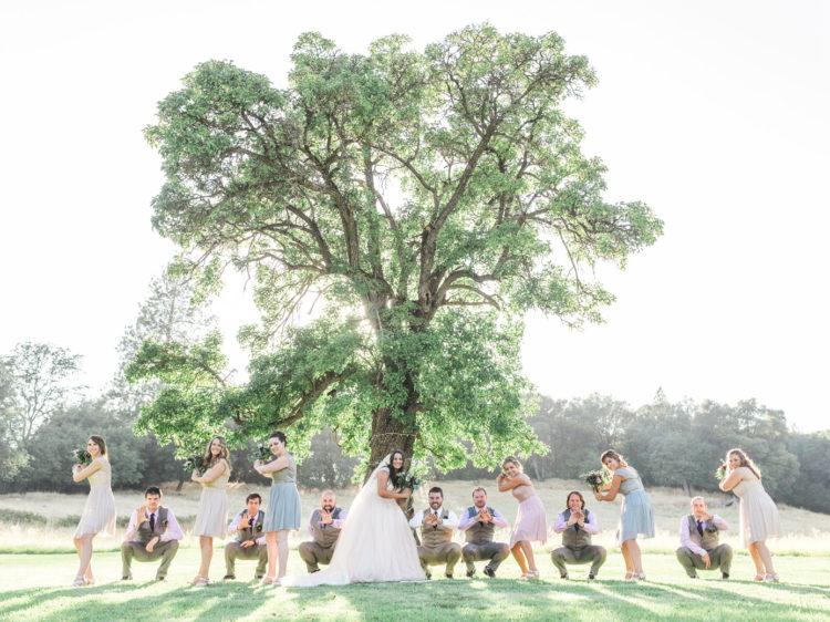 Murphys Ranch Wedding | Baseball Themed Wedding Party Photo